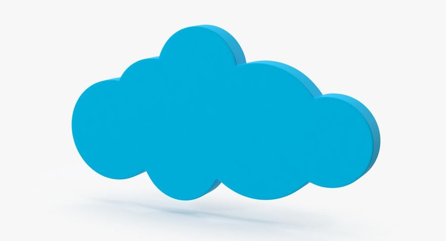 Cloud Cloud royalty-free 3d model - Preview no. 2