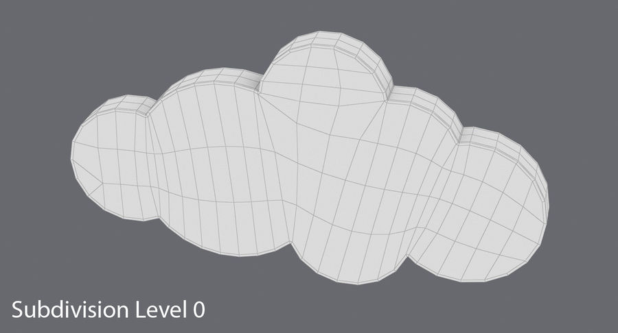 Cloud Cloud royalty-free 3d model - Preview no. 14
