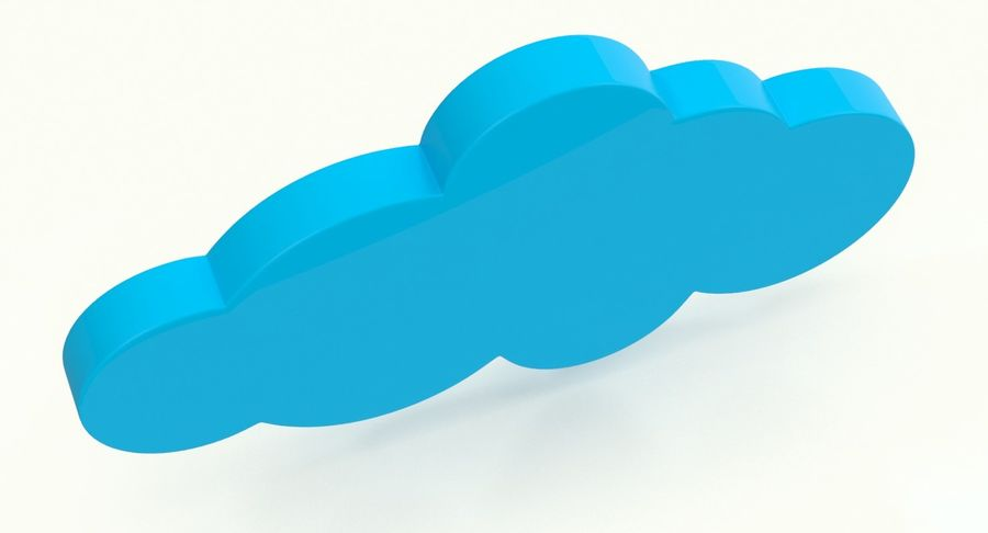 Cloud Cloud royalty-free 3d model - Preview no. 8