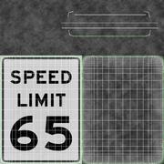 Znak ograniczenia prędkości Prędkość 65 3d model
