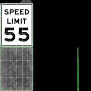 Znak ograniczenia prędkości Prędkość 55 3d model