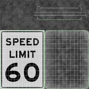 Znak ograniczenia prędkości Prędkość 60 3d model