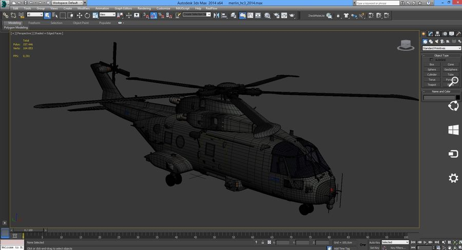 Agusta Westland AW101 - Merlin HC3 royalty-free 3d model - Preview no. 30