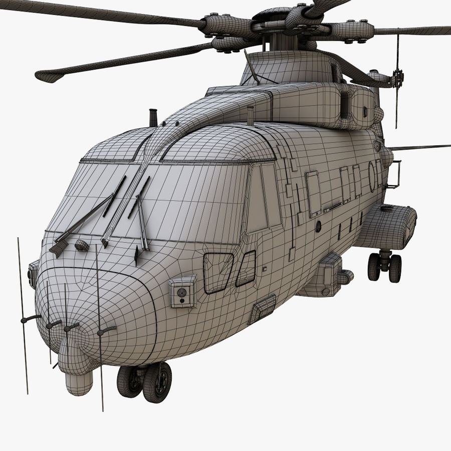 Agusta Westland AW101 - Merlin HC3 royalty-free 3d model - Preview no. 21