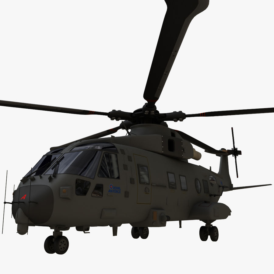 Agusta Westland AW101 - Merlin HC3 royalty-free 3d model - Preview no. 16