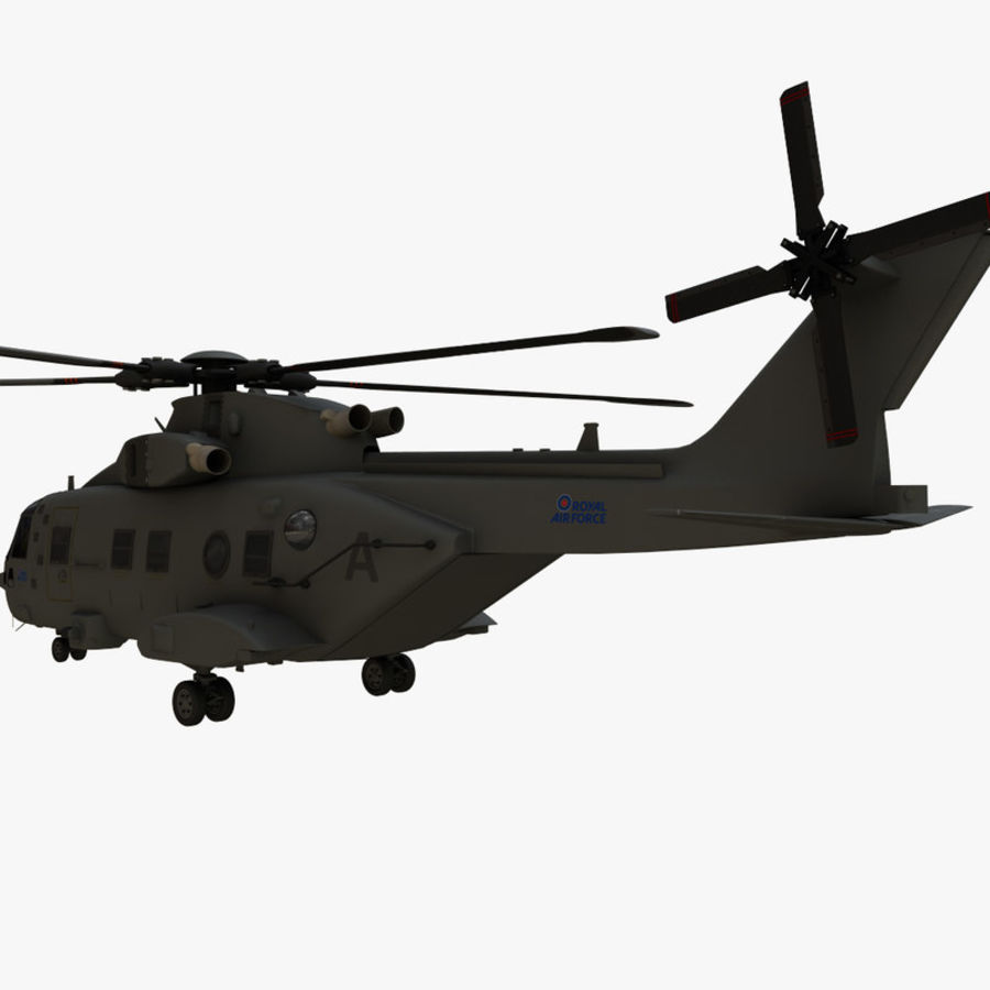 Agusta Westland AW101 - Merlin HC3 royalty-free 3d model - Preview no. 4