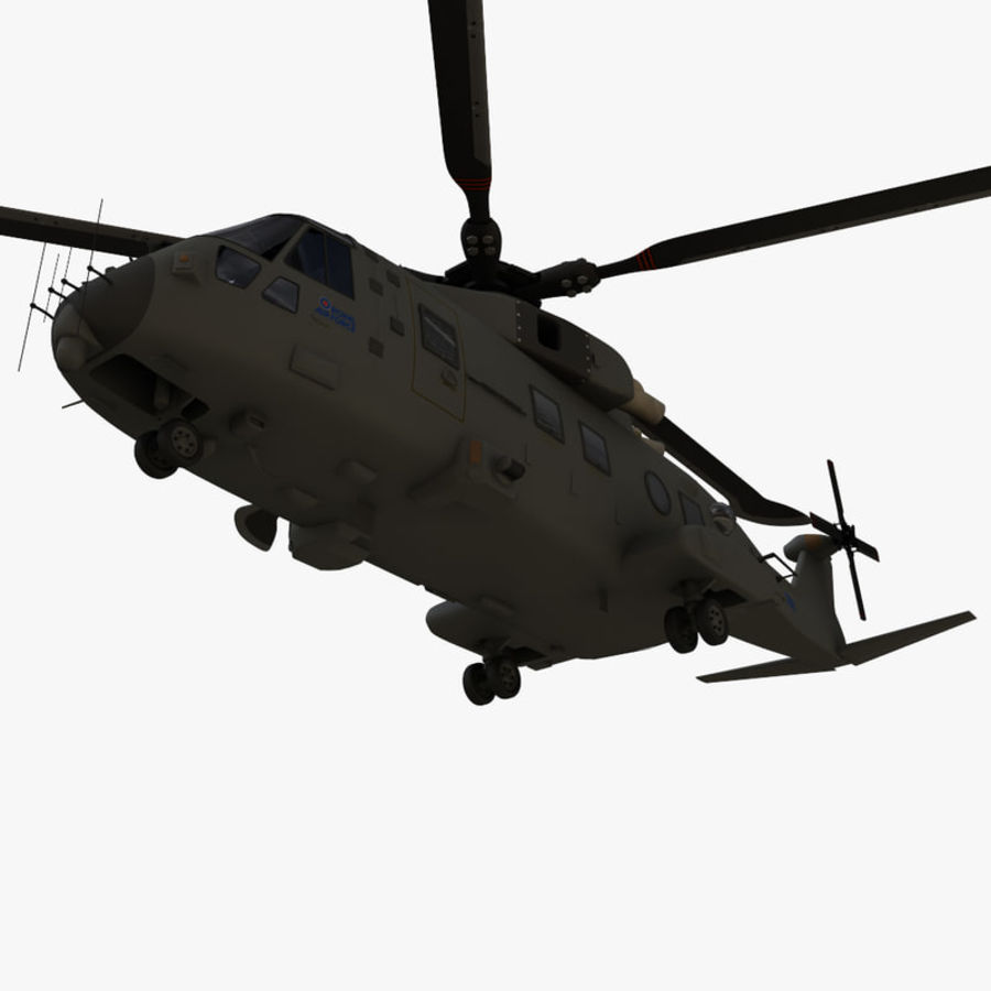 Agusta Westland AW101 - Merlin HC3 royalty-free 3d model - Preview no. 12
