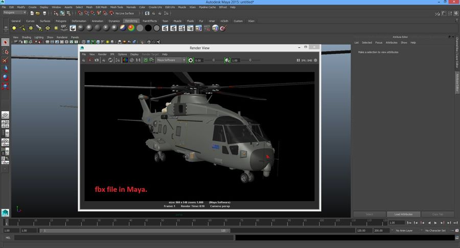 Agusta Westland AW101 - Merlin HC3 royalty-free 3d model - Preview no. 29