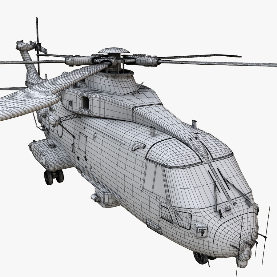 Agusta Westland AW101 - Merlin HC3 royalty-free 3d model - Preview no. 25