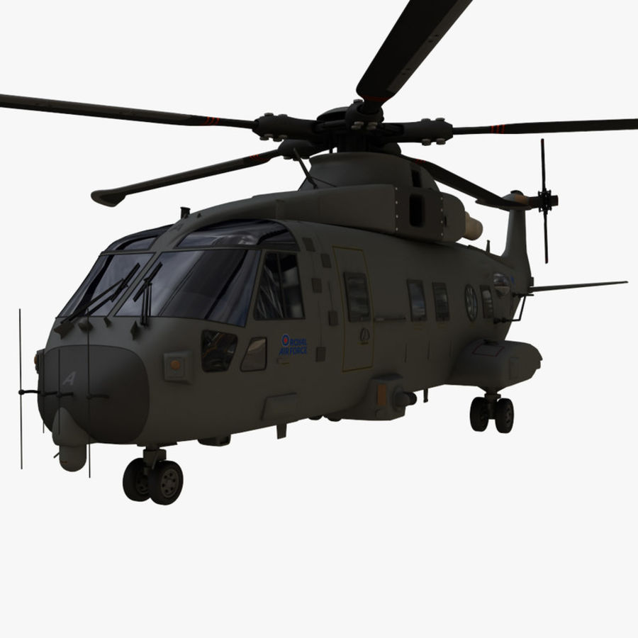 Agusta Westland AW101 - Merlin HC3 royalty-free 3d model - Preview no. 2