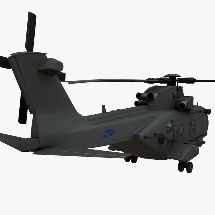 Agusta Westland AW101 - Merlin HC3 royalty-free 3d model - Preview no. 6