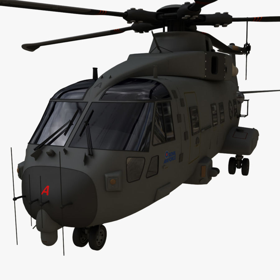 Agusta Westland AW101 - Merlin HC3 royalty-free 3d model - Preview no. 20