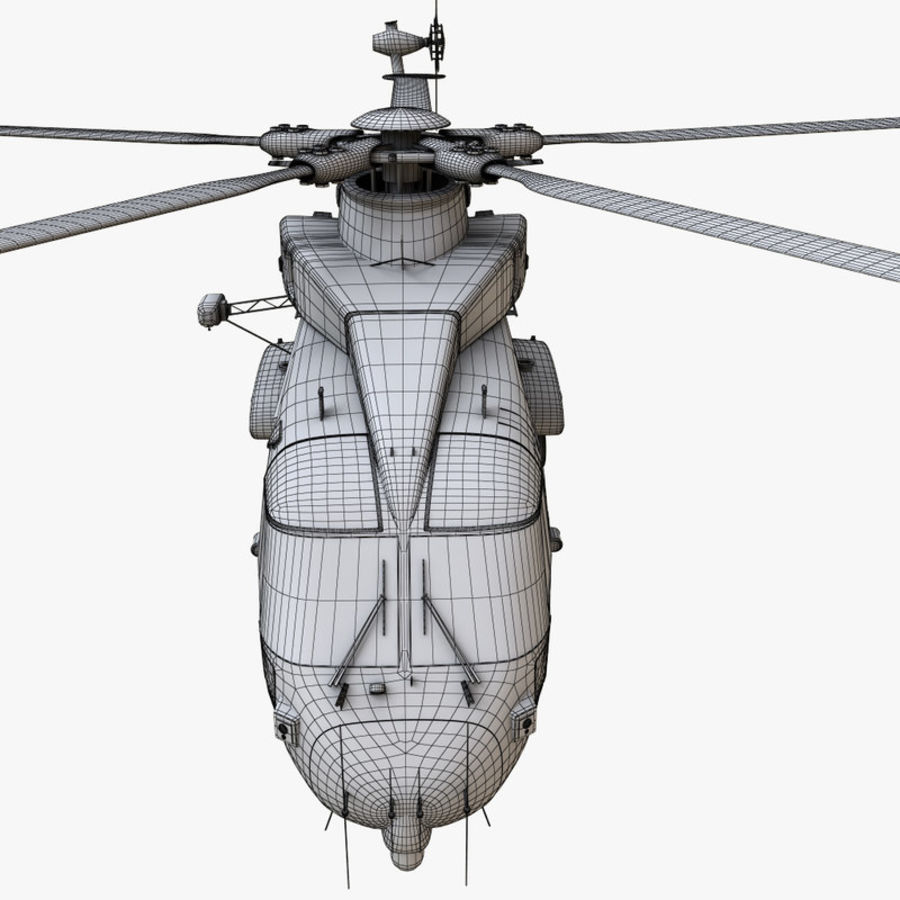 Agusta Westland AW101 - Merlin HC3 royalty-free 3d model - Preview no. 26