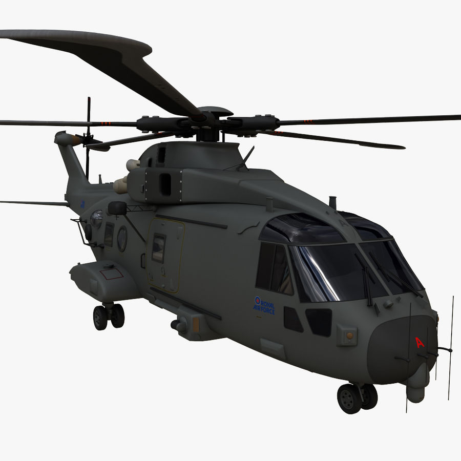 Agusta Westland AW101 - Merlin HC3 royalty-free 3d model - Preview no. 1