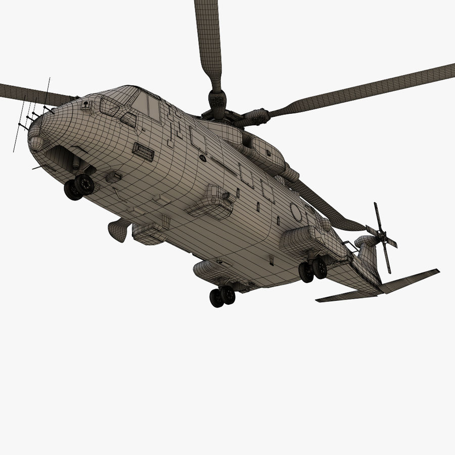 Agusta Westland AW101 - Merlin HC3 royalty-free 3d model - Preview no. 27