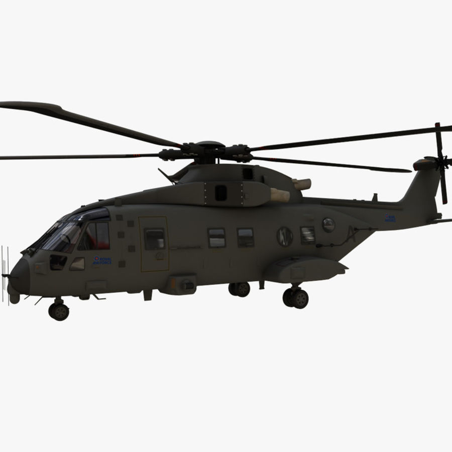 Agusta Westland AW101 - Merlin HC3 royalty-free 3d model - Preview no. 3