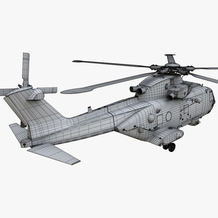 Agusta Westland AW101 - Merlin HC3 royalty-free 3d model - Preview no. 24