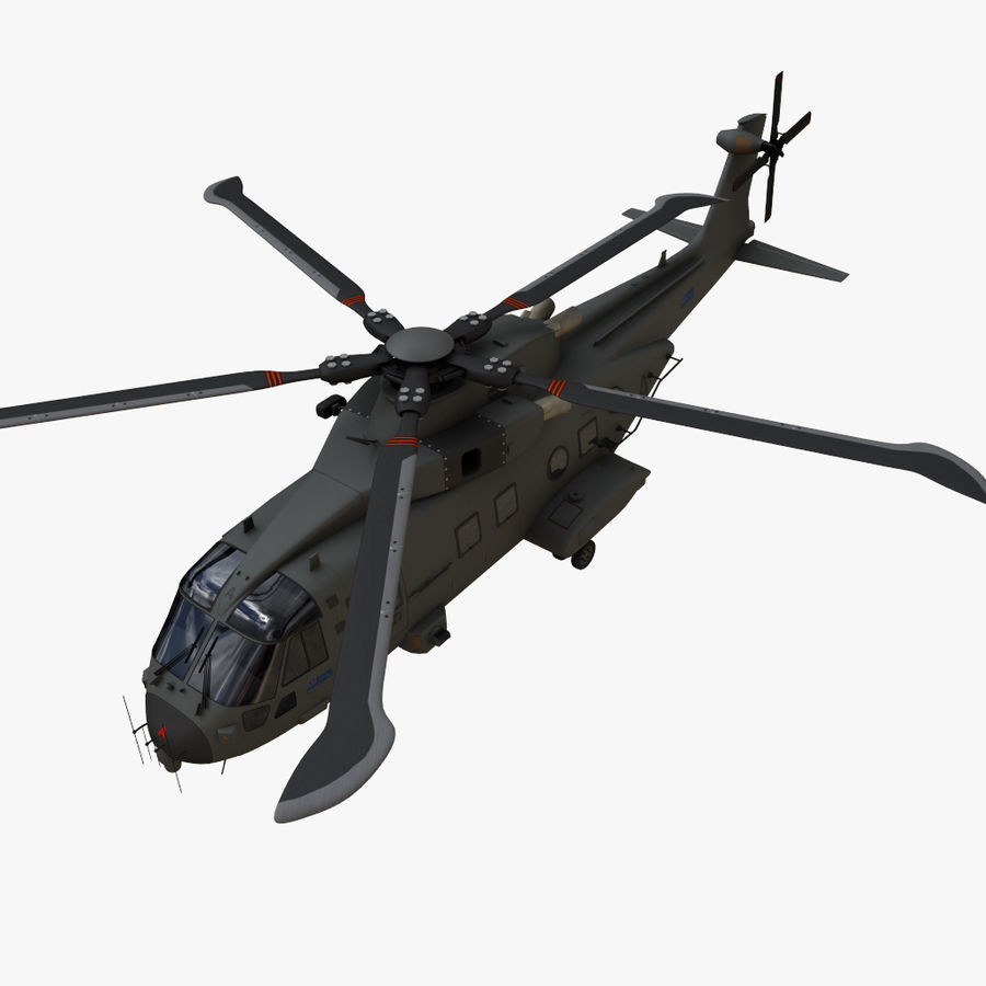 Agusta Westland AW101 - Merlin HC3 royalty-free 3d model - Preview no. 9