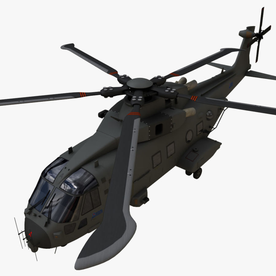 Agusta Westland AW101 - Merlin HC3 royalty-free 3d model - Preview no. 17