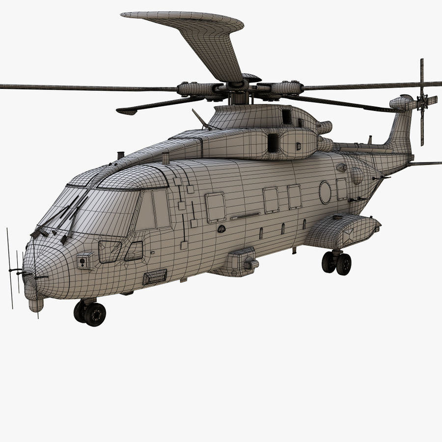 Agusta Westland AW101 - Merlin HC3 royalty-free 3d model - Preview no. 22