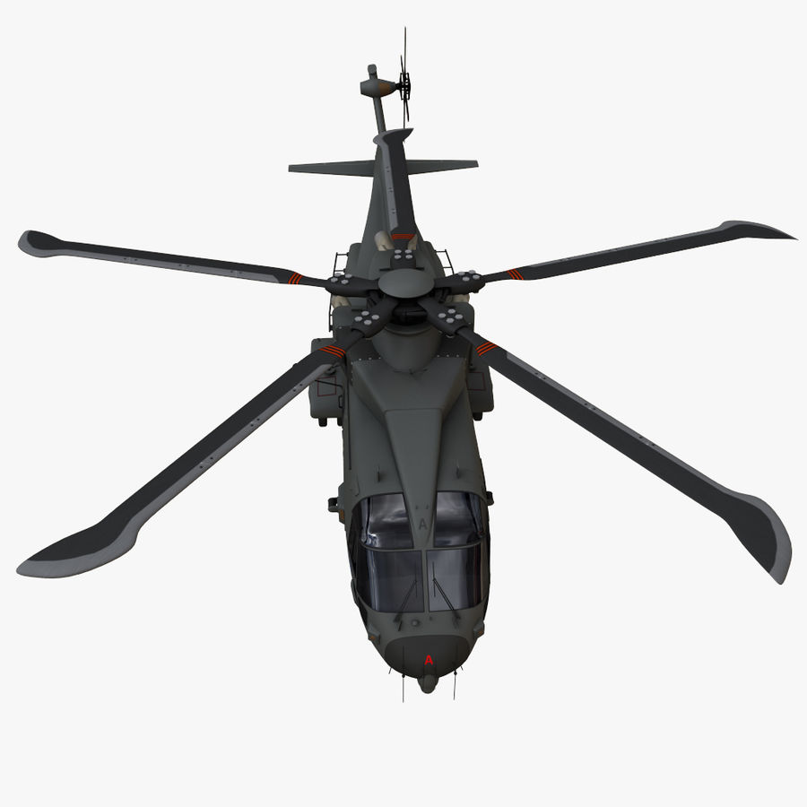 Agusta Westland AW101 - Merlin HC3 royalty-free 3d model - Preview no. 8