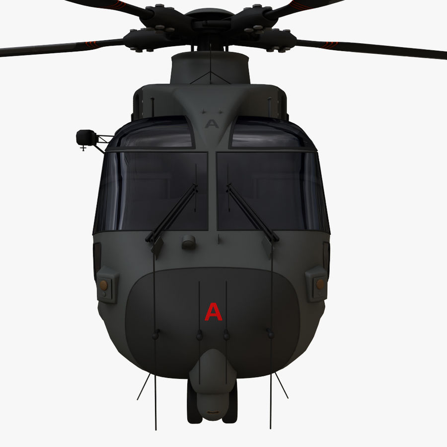 Agusta Westland AW101 - Merlin HC3 royalty-free 3d model - Preview no. 7