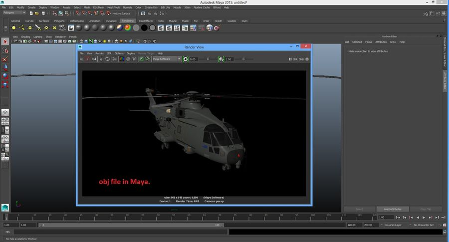 Agusta Westland AW101 - Merlin HC3 royalty-free 3d model - Preview no. 28
