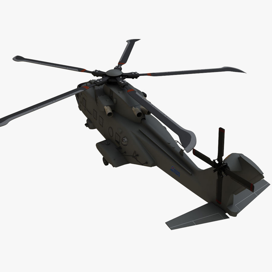 Agusta Westland AW101 - Merlin HC3 royalty-free 3d model - Preview no. 10