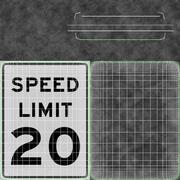 Znak ograniczenia prędkości Prędkość 20 3d model
