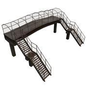 Puente peatonal modelo 3d
