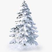 雪に覆われたspruce_v1 3d model