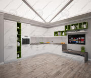 Modern Kitchen 1 3d model