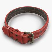 Animal Collar Red 3d model