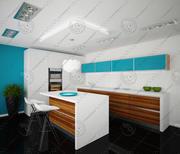 Kitchen modern 2 3d model