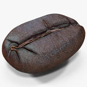 Roasted Coffee Bean 4 3d model