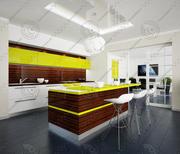 Kitchen modern 3 3d model