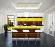 现代厨房3 3d model