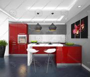 Kitchen modern 4 3d model