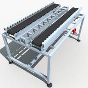 Belt conveyor line 01 3d model