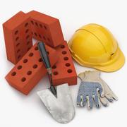 Zestaw budowniczy 001 3d model