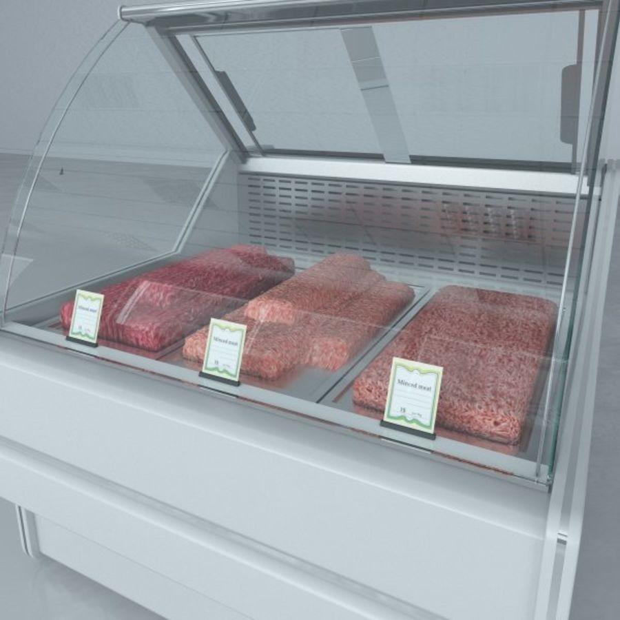 冷藏展示柜和碎肉 royalty-free 3d model - Preview no. 6