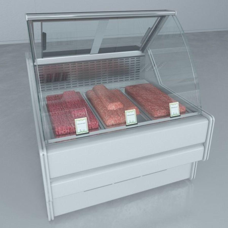 冷藏展示柜和碎肉 royalty-free 3d model - Preview no. 1