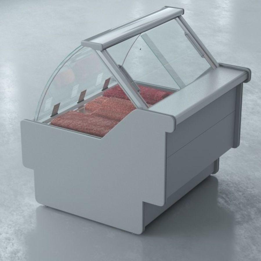 冷藏展示柜和碎肉 royalty-free 3d model - Preview no. 4