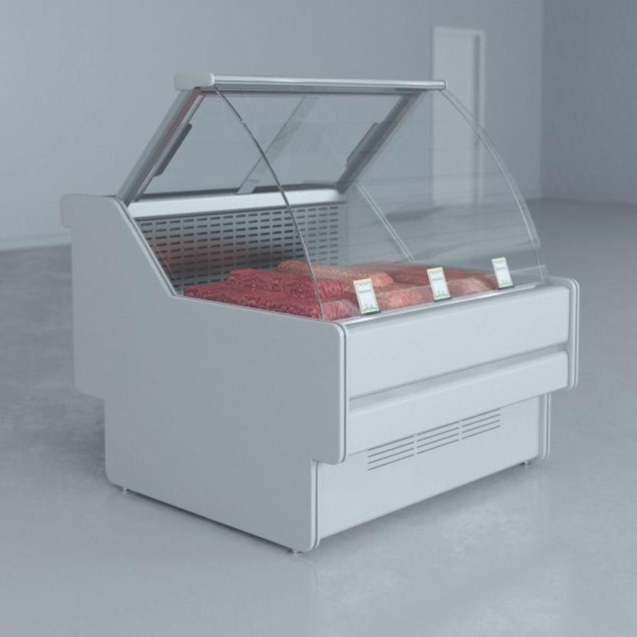 冷藏展示柜和碎肉 royalty-free 3d model - Preview no. 2