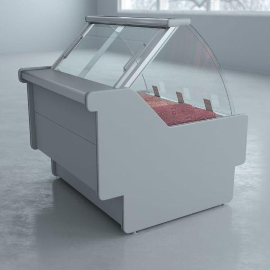 冷藏展示柜和碎肉 royalty-free 3d model - Preview no. 3