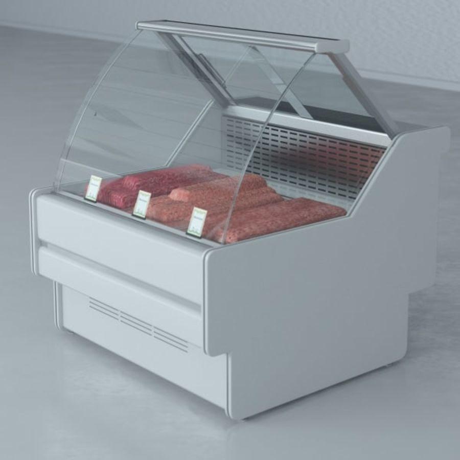 冷藏展示柜和碎肉 royalty-free 3d model - Preview no. 5
