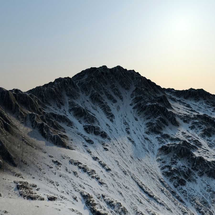Terrain mountains royalty-free 3d model - Preview no. 5