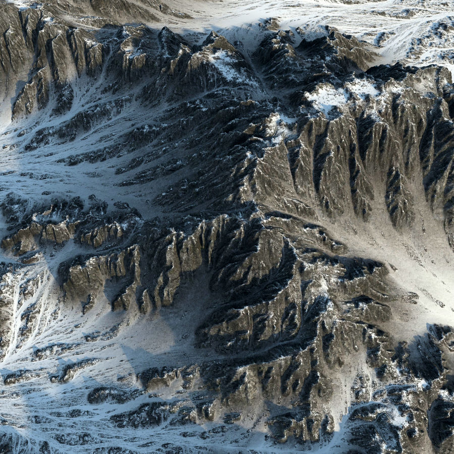 Terrain mountains royalty-free 3d model - Preview no. 8
