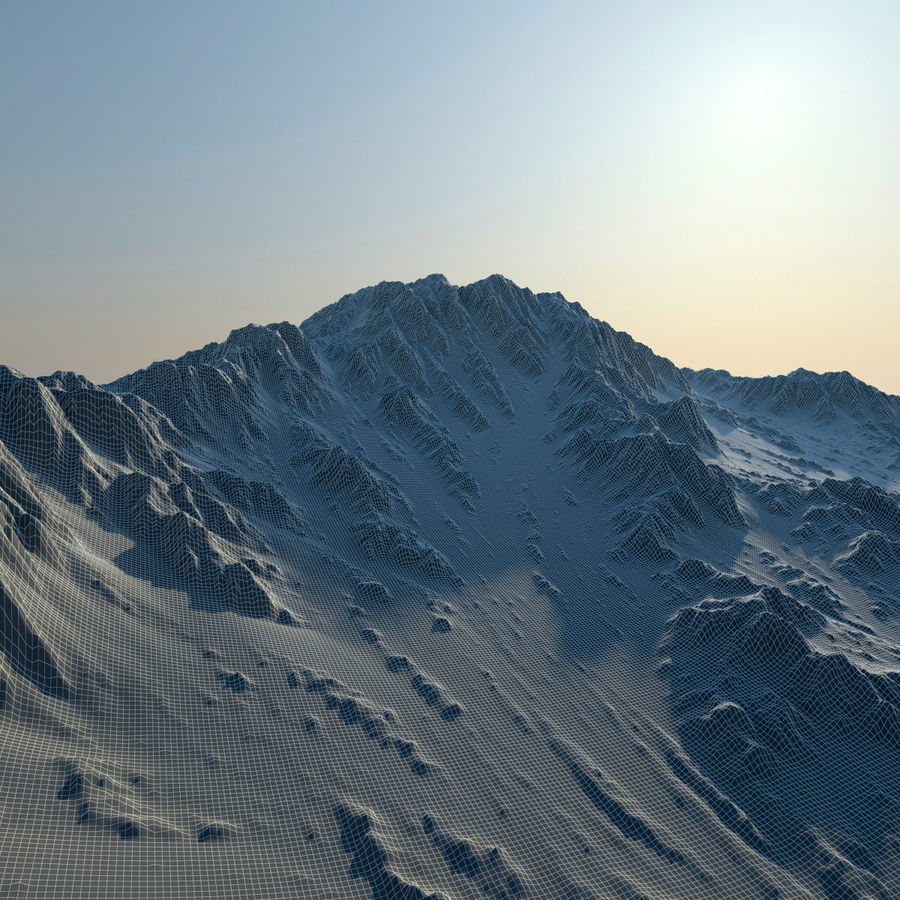 Terrain mountains royalty-free 3d model - Preview no. 11