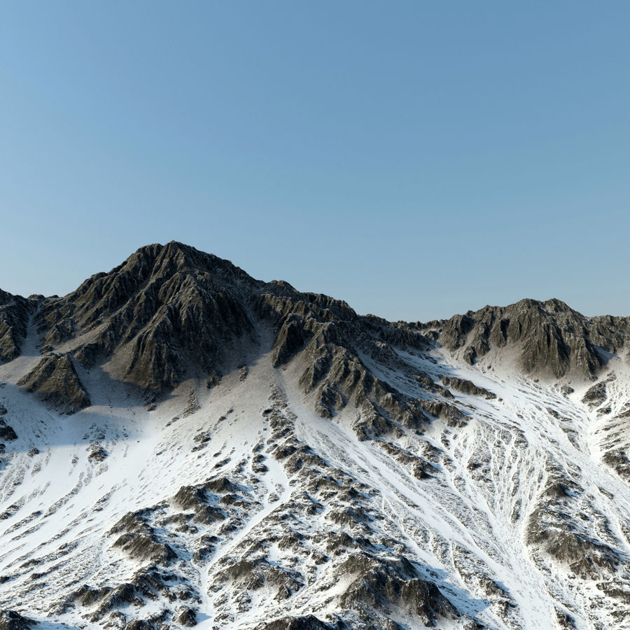 Terrain mountains royalty-free 3d model - Preview no. 4